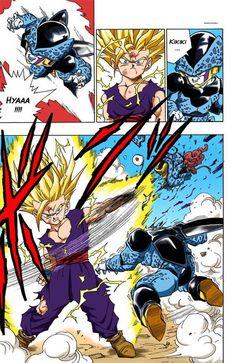 Super Saiyan 2 Gohan Dragon Ball Z Transformation Dbz Manga, Manga Dragon, Comic Manga, Dragonball Super Manga, Dragonball Art, Gohan Vs Cell, Dragon Ball Z, Cell Jr, Akira
