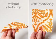 Sewing Tips: Defining & Using Interfacing, Fusible Web, Fusible Adhesive