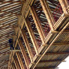 Architecture Design, Bamboo Architecture, Tropical Architecture, Vernacular Architecture, Amazing Architecture, Bamboo Bamboo, Bamboo Roof, Bamboo House, Bamboo Building