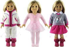 Best Price 3 Set Doll Clothes for 18 Inch American Girl Handmade Casual Waer Clothes