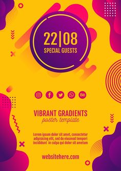 Discover thousands of free PSD on Freepik Graphic Design Templates, Graphic Design Posters, Psd Templates, Wireframe, Event Poster Design, Billboard Design, New Years Poster, Poster Layout, Social Media Design
