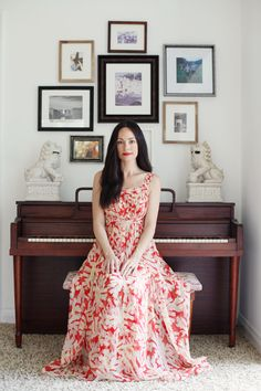 Style At Home: Catt Sadler Of E! News | theglitterguide.com    great arrangement around the piano!
