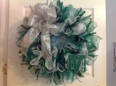 Michigan State deco mesh wreath