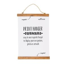 White Print Hanger Small Use to Display Photos Wall Art Homewares Gift Novelty 5055992725252 Magnetic Frames, Magnetic Wall, Sass & Belle, Instagram Sign, Photo Wall Art, Photo Displays, Display Photos, Oeuvre D'art, Magnets