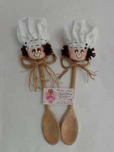 Discover thousands of images about cute shabby chic idea - handmade Diy Home Crafts, Felt Crafts, Crafts For Kids, Arts And Crafts, Paper Crafts, Wooden Spoon Crafts, Wooden Spoons, Wood Crafts, Wood Reindeer