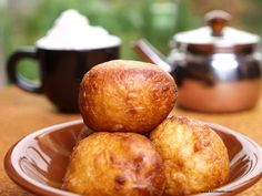 Puff-puff is a traditional Nigerian food similar to a doughnut. There exists a similar version known as bofrot in Ghana. Puff-puffs are similar to the French Beignet and the Italian Zeppole.