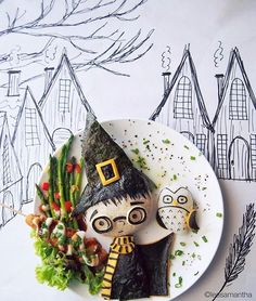 Creative Bento Food Art By Samantha Lee. Amazing Food Art, Awesome Food, Do It Yourself Food, Creative Food Art, Creative People, Creative Kids, Food Art For Kids, Harry Potter Food, Food Artists