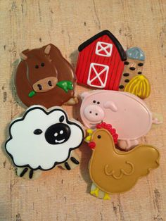 Farm Theme Cookies1 Dozen by kjcookies on Etsy