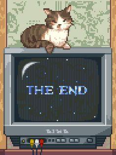 Pixel art: The End Art Anime, Anime Kunst, Aesthetic Art, Aesthetic Anime, 8 Bit Art, Pixel Art Games, Jolie Photo, Vaporwave, Oeuvre D'art