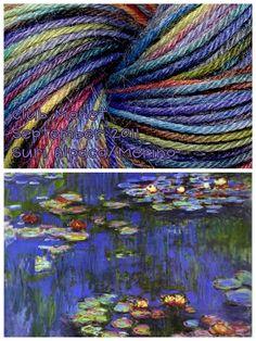 Handpainted Yarn Club MONET  by claudinemarcelle