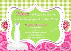 Spring Bridal Shower Invitations with Free Thank You Cards - Printable