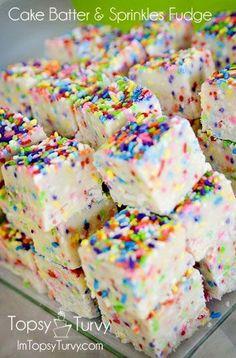 Cake Batter and Sprinkles Fudge
