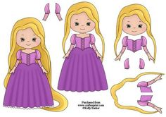 Beautiful Princess Rapunzel Decoupage Sheet on Craftsuprint - View Now!
