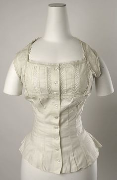 ca. 1880 Corset cover | American or European | The Met