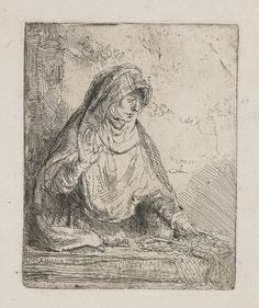 The Virgin with the Instruments of the Passion by Rembrandt Date: 1652