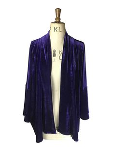Baylis and Knight Purple Velvet Kimono