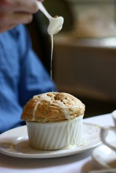 White Chocolate Bread Pudding Souffle @ Commander's Palace