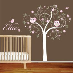These baby room decals from Etsy.com are so freaking cute!! OR can make with Silhouette!!!