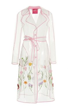 Clear Floral Trench Coat by Blumarine Resort 2019 Floral Fashion, Trendy Fashion, Fashion Dresses, Womens Fashion, Fashion Trends, Emo Fashion, Blazer Jackets For Women, Mein Style, Fashion Details