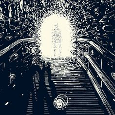 James Reads  The way he draws light, as flecks gives the illustration a more textural feel.