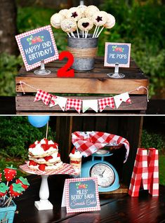 BERRY Cute Birthday Bash {Red Gingham BBQ}