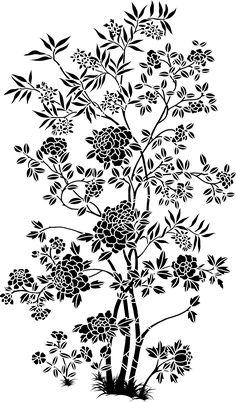 Baroque Pattern, Baroque Design, Pattern Art, Pattern Design, Black And White Flowers, Black Leaves, Black N White, Folk Art Flowers, Flower Art