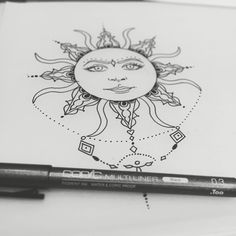 Sun Tattoo Design  Henna