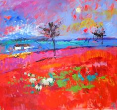 Soraya French - Red Landscape