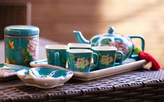 THE SECRET GARDEN CINOIS Kitchenware, Tableware, Chinese Tea, Chinoiserie, Tea Set, Interior And Exterior, Tea Time, Tea Party, Oriental