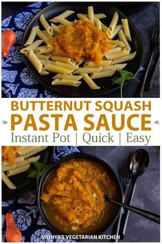 Check out how to cook butternut squash with minimal chopping & how to make this delicious vegan & gluten-free butternut squash pasta sauce in Instant Pot. Vegetarian Platter, Vegetarian Pasta Recipes, Vegan Pasta, Vegan Recipes, Cooking Recipes, Vegetarian Cooking, Delicious Recipes, Butternut Squash Pasta Sauce, Butternut Squash Cubes