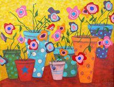 Floral Fiesta Painting by John Blake