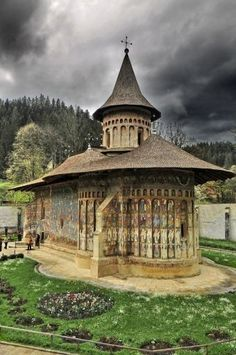 The Voronet monastery in Romania.