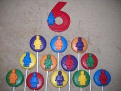 1 chocolate Lego inspired3x4 number building blocks lollipops lollipop | sapphirechocolates - Edibles on ArtFire