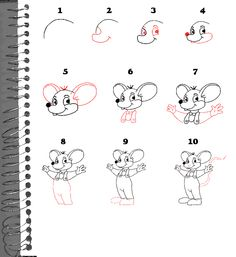 how to draw brian step by step