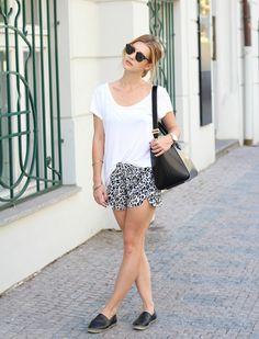 white basic shirt with short bmodish