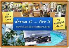 """What is a vision board or """"dream board""""? Get all the answers at http://www.makeavisionboard.com"""