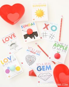 8 FREE printable non-candy Valentine's! 4 fun EOS lip balm valentines along with 3 activity Valentine's!