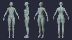 ArtStation - Stylized anatomy study, Yuriy Porubov