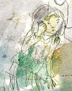 bohemian decor gossip girl original illustration by ImYourNonny, $15.00