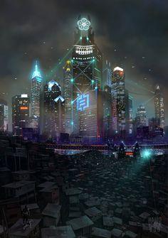 Travels II: Heavenhell City by KsiazeKrzysztof.deviantart.com on @deviantART