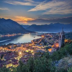 Kotor Montenegro Hiking to watch the sunrise is supposed to be really beautiful here