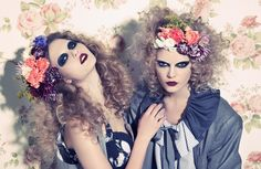love the styling and adore the florals dressing the hair. Photography by Jamie Nelson as shown on Ben Trovato Blog