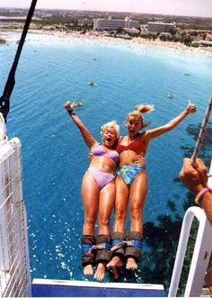 bungee jumping with your bestfriend.