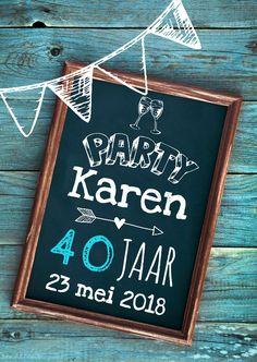 Leuke verjaardagsuitnodiging, verkrijgbaar bij #kaartje2go voor €1,89
