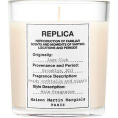 Maison Margiela MMM Jazz Club Candle (83 NZD) ❤ liked on Polyvore featuring home, home decor, candles & candleholders, filler, no color, heart candles, vanilla candles, leaves candle, fragrance candles and maison margiela