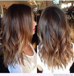 medium length hair brown to light brown balayage - Google Search
