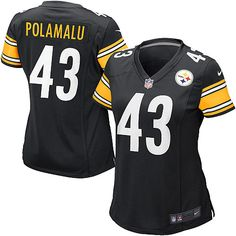 TROY!!!!! - Women's Nike Pittsburgh Steelers Troy Polamalu Game Team Color Jersey