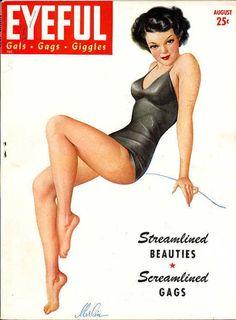 "Aug 1943 vintage Cover of Robert Harrison's ""Eyeful"" magazine"