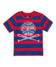 Loving this Candy Apple Red Stripe Rugby Tee - Infant & Toddler on #zulily! #zulilyfinds