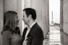 DC wedding engagement session